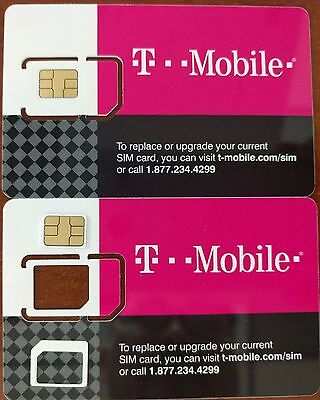 NEW T-Mobile FACTORY NANO SIM SIZE. REPLACEMENT SIM