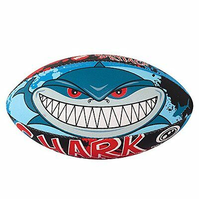 Optimum Midi Pallone Da Rugby Shark - Multicolore