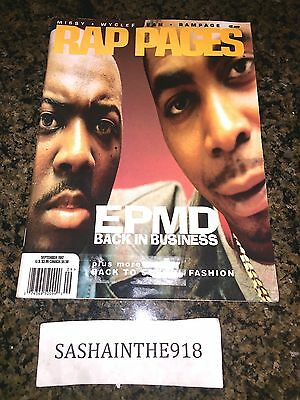 Rap Pages Magazine Sept. 1997 EPMD Missy Wyclef Rampage Vintage Issue