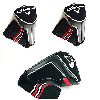 NEW CALLAWAY GOLF HEADCOVER SET | 1 x Driver + 2 x Fairway Covers