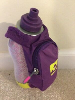 Nathan SpeedDraw Plus Insulated Flask Imperial Purple Handheld