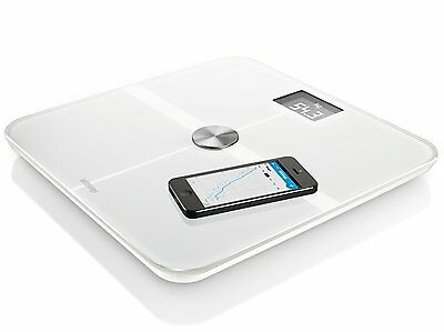 Withings Smart Body Analyzer Precise Weight Heart Rate Measurement Scale - White