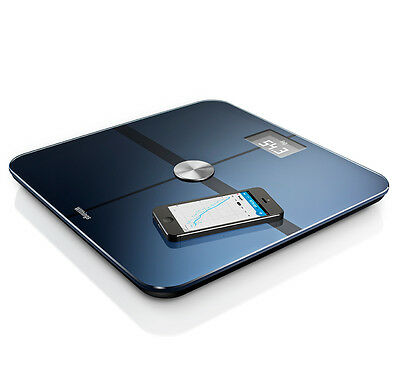 Withings Smart Body Analyzer Black Weight Heart Rate Measurement Scale Fit New