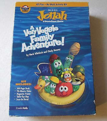 Jonah a VeggieTales Movie - VHS with Book Ages 4+ Free Shipping