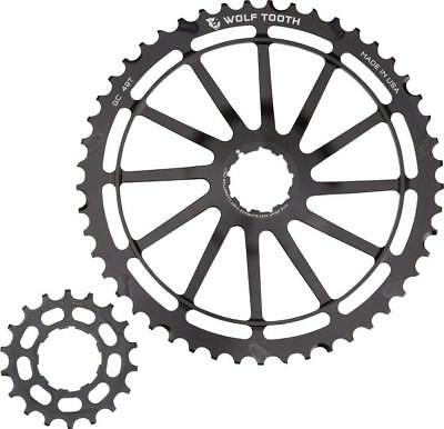 Wolf Tooth Components GC49: 49T + 18T Cogs, Black, For SRAM NX Cassettes