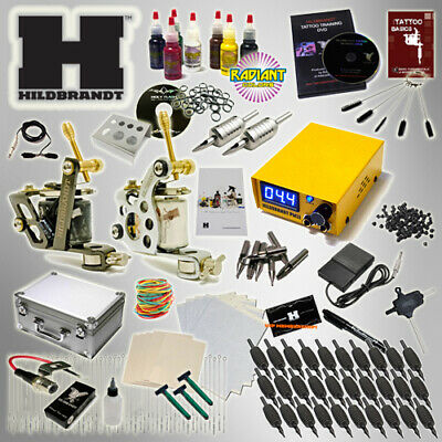 Complete Tattoo Kit HILDBRANDT ADVANCED 2 MACHINE Pretuned GUN Ink Set