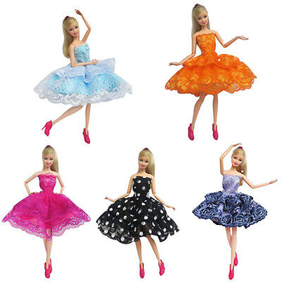 5PCS Handmade Mini Dresses Dancing Skirt Clothes Outfit Gown for 11inch Doll US
