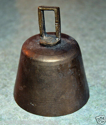 Antique Brass Cow Dinner Table Ship Bell