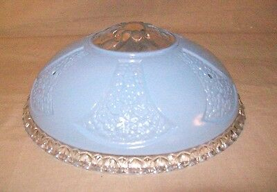 Antique Beautiful Light Blue Glass 1940's Light Cover