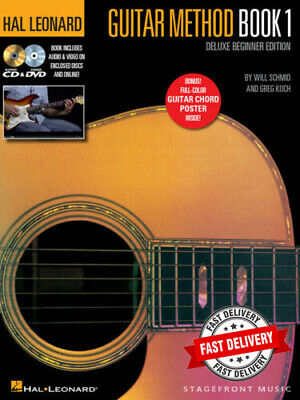 Hal Leonard Guitar Method Book 1 Deluxe Beginner Edition Cd & Dvd Best Seller