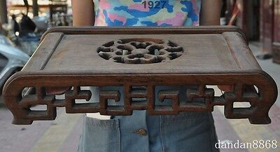 rare old chinese huanghuali wood hand-carved flower statue Tea table Coffee desk