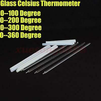 Glass Thermometer 100 200 300 360 Celsius 300mm Laboratory Chemistry Glassware