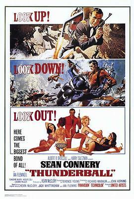 Thunderball Movie POSTER 27 x 40 Sean Connery, Claudine Auger, A, LICENSED NEW