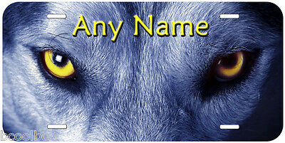 Wolf Eyes Novelty Aluminum Any Name Personalized Car License Plate P01