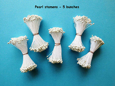 Stamens Pearl 5 bundles -  Cake Decorating Sugar Flower Gum Paste Tools