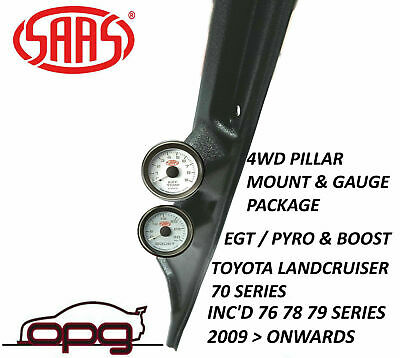 Saas Pillar Pod / Gauge Package Toyota Landcruiser 70 Series Boost +  Egt Gauges