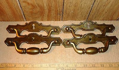 Vintage  Drawer Pulls, Set of 4, Brass?