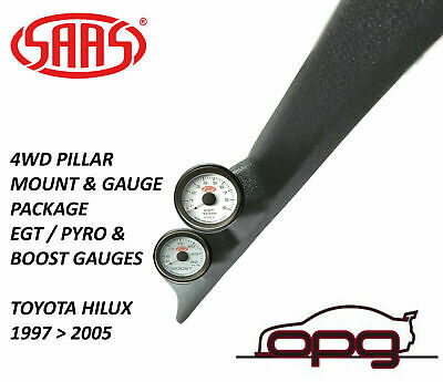 Saas Pillar Pod Gauge Package Suits Toyota Ln Hilux 1997>2005 Boost+ Egt Gauges