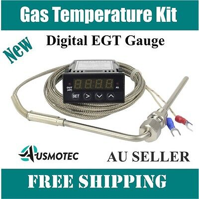 Digital EGT Gauge Temp Pyrometer Sensor Probe Exhaust Gas Temperature Kit
