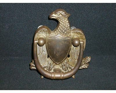 Vintage Solid Brass FEDERAL EAGLE w/Shield Door Knocker~w/Hardware
