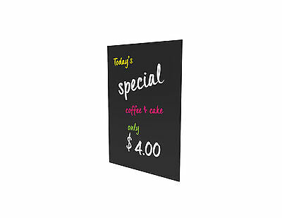 MENU Notice BOARD Acrylic 4.5 mm Black Gloss Matte 414mm x 588mm Pubs Specials