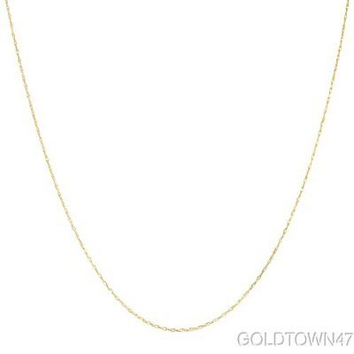 """14K Solid Yellow Gold Lite Rope Chain Necklace 16"""",18""""or 20"""""""