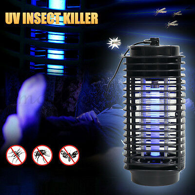 New Electric Mosquito Fly Pest Bug Insect Zapper Killer With Trap Lamp Black AU