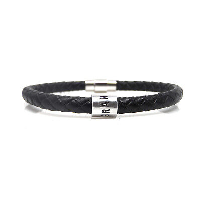 Grandad Bracelet - Leather Braided – Hand Stamped – Gift Boxed – Free Delivery
