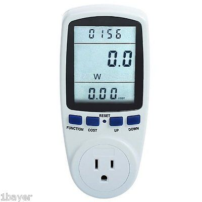 RioRand Plug Power Energy Frequency Watt Electricity Usage Voltage Amps Meter