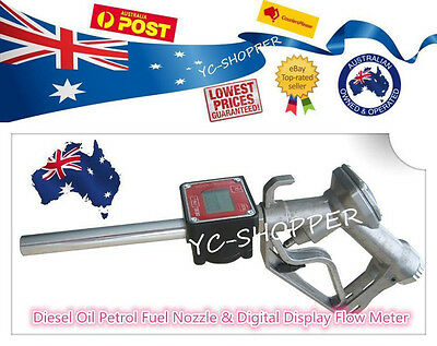 Diesel Petrol Fuel Nozzle & Digital Display Flow Meter
