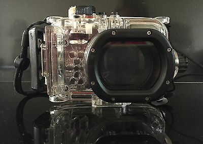 Meikon 40m/130ft Waterproof Housing Case For Canon PowerShot S100 PC675 Camera