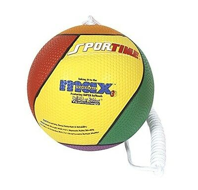 Max Tether Ball With Nylon Rope - Official Size And Weight - Multico... Multicol