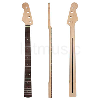 Left Handed Electric Bass Guitar Neck for Precision Bass Parts Maple 42mm