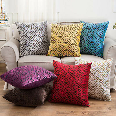Vintage Luxury Geometric Linen Cushion Cover Throw Pillow Case Sofa Home Decor