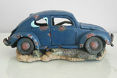 VW Beetle Large Old Rustic Style Car Decoration 33 x 16 x 13 For All Aquariums