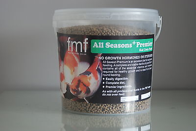 Koi Carp Pond Food Fish  Food All Season Premier +4 kg Bucket 3mm Pellets