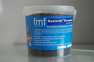 Koi Carp Pond Food FMF Growth Premier + 2kg Bucket 3mm Pellets