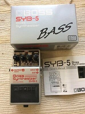 Boss SYB5 bass synthesizer boxed and superb condition