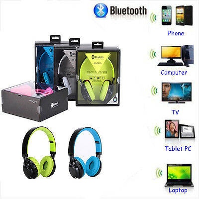 Bluetooth Wireless Foldable Headset Stereo Headphone Earphone For Laptop Phone
