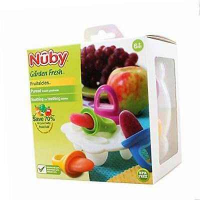 Nuby Garden Fresh Fruitsicles Frozen Puree Ice Pop Moulds