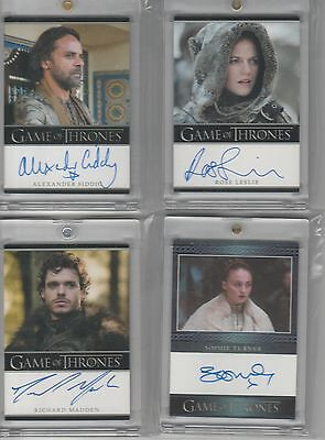 Game Of Thrones Season 3 Auto Rose Leslie Bordered Autograph