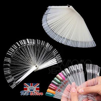 50/100Pcs False Display Nail Art Fan Wheel Polish Practice Color Pop Tip Sticks