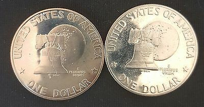 1976 S US Eisenhower PROOF One Dollar Coins (Type 1) & (Type 2) - Uncirculated..