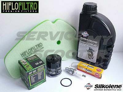 Piaggio Beverly 125 01-15 Hiflo Service Kit, Oil Filter, Spark Plug, Air Filter