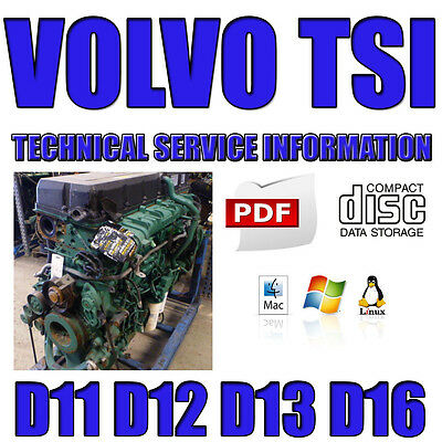Volvo Truck Manual Tsi Technical Service Information Workshop D11 D12 D13 D16