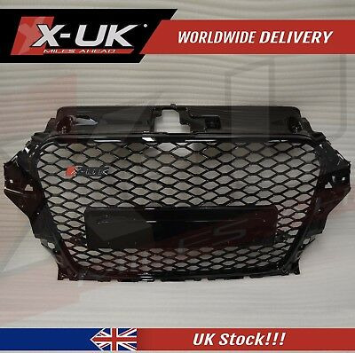 Audi A3 S3 8V To Rs3 Front Grill 2012-2015 Full Gloss Black