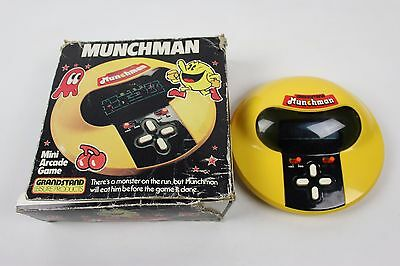 Vintage Munchman Mini Arcade Game Grandstand 1981 Retro Tabletop Electronic A7