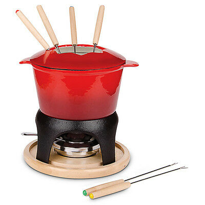 Fondue set per 6 persons 11 pieces for cheese and meat fondue