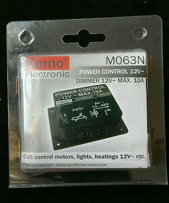 Kemo Electronic M063N Dimmer 12V ~max 10A power control