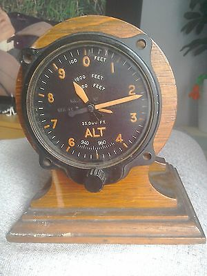 Spitfire/Hurricane Aviation... Altimeter Clock WW2 (trophy)